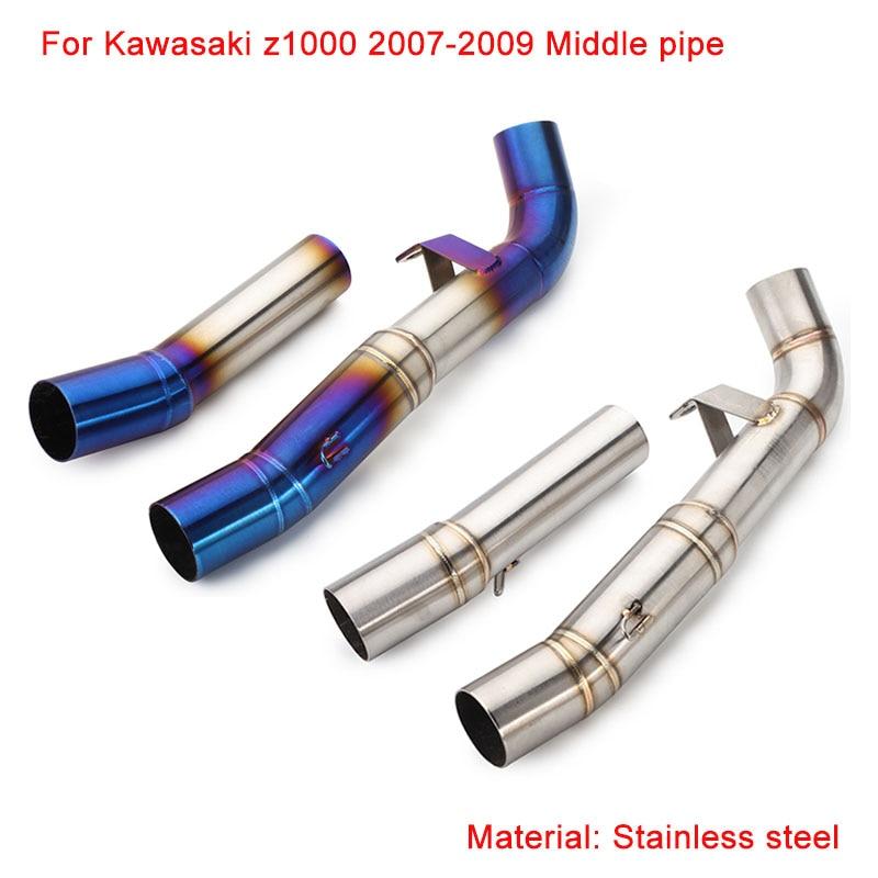 2007 2008 2009 для kawasaki z1000 мотоциклетная средняя труба
