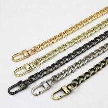Chaîne métallique en aluminium de 100/110/120cm, accessoires de rechange pour sac à bandoulière, poignées dorées