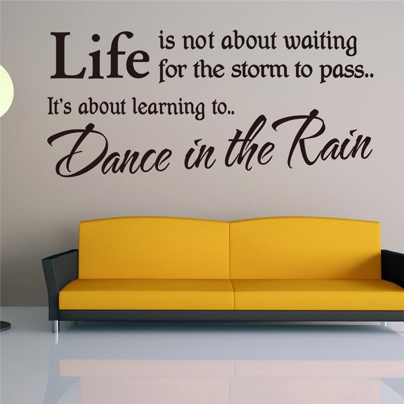 Aliexpress.com : Buy Free Shipping Life Inspirational Quotes Wallpaper Home Living  Room Decorations DIY Decals Vinyl Art Room Wall Mural Y 339 From Reliable  ... Part 66