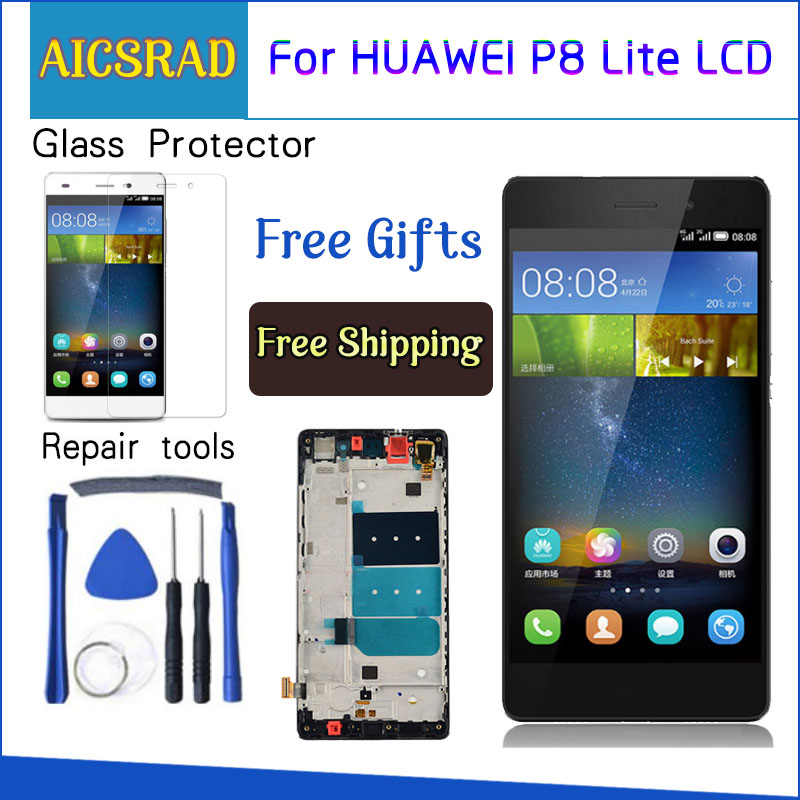 LCD For HUAWEI P8 Lite Display Touch Screen Digitizer Replacement LCD For HUAWEI P8 Lite Display ALE-L21 P8LITE L04 with frameLCD For HUAWEI P8 Lite Display Touch Screen Digitizer Replacement LCD For HUAWEI P8 Lite Display ALE-L21 P8LITE L04 with frame