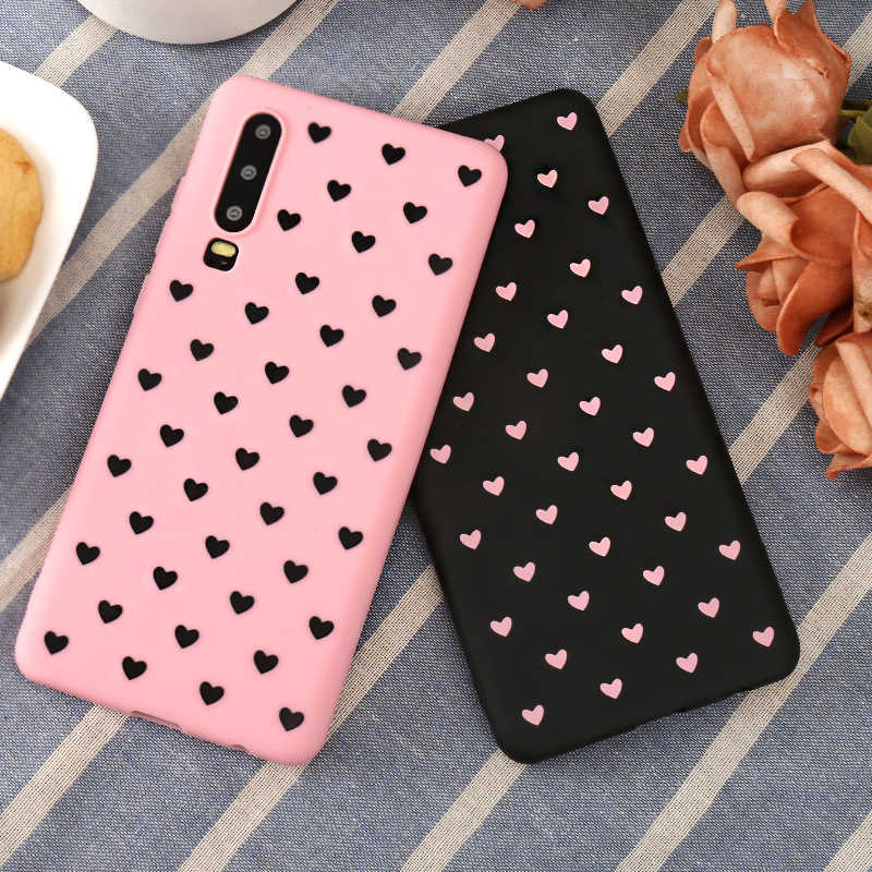 Love Heart Case For Huawei P30 P20 Pro P10 P9 Plus P8 Lite 2017 P Smart 2019 Silicone Cover For Huawei Mate 8 9 10 20 X Lite Pro