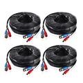 ANNKE 4 ШТ. много 30 М 100 Футов BNC Видео Мощность кабель Для CCTV AHD Камеры DVR Система Безопасности Черный Наблюдения аксессуары