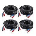 ANNKE 4 UNIDS mucho 30 M 100 Pies BNC Power Video cable para cctv cámara ahd dvr seguridad sistema de vigilancia negro accesorios