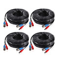 ANNKE 4PCS a Lot 30M 100 Feet BNC Video Power Cable For CCTV AHD Camera DVR Security System Black Surveillance Accessories