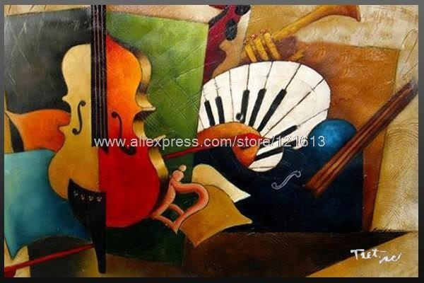 Peinture Contemporaine Tableau Moderne Contemporain Happy Music Oil