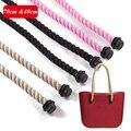 Obag taping obag lida com cabo curto, 1 par de cabo longo alça longa tamanho 70 cm por 40 cm grande saco alça de corda curta accessori