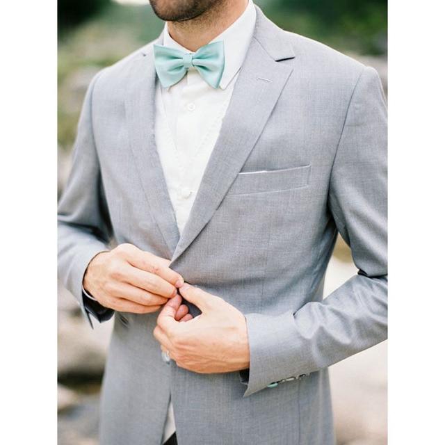 Wedding Suits For Men Light Gray Custom Made Bespoke Ash Grey ...