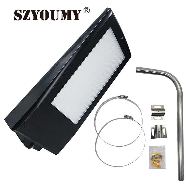 SZYOUMY 15W 108 LEDs 2100LM Solar Powered Radar Motion Sensor Wand Licht Im Freien Wasserdichte Energiesparlampe Straßen Hof pfad