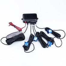 LED parktronic sensor 4pcs Assistance Reversing Radar Car Parking Sensors black blue gray red white silver For all car