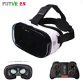 Fiit 2N Pro Virtual Reality 3D Glasses VR Headset 2 Models Cardboard Leather Helmet vrbox + Mocute Gamepad 050 for 4-6' Phone