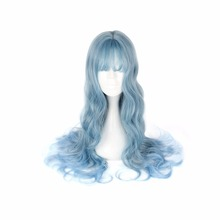 MCOSER Cute Harajuku Lolita Wig Blue Color  Cosplay Long curly hair Women's Party  Fashion Cos Wigs цены