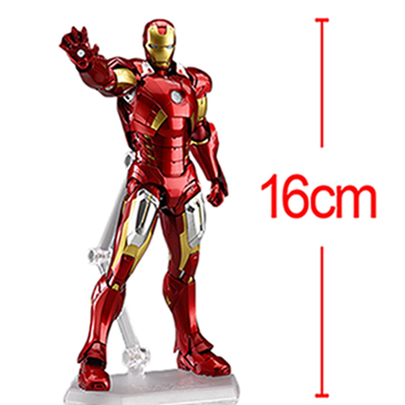 Movie The Avengers Iron Man Mark MK7 figma Marvel PVC action Figure Collection Model Toy цена