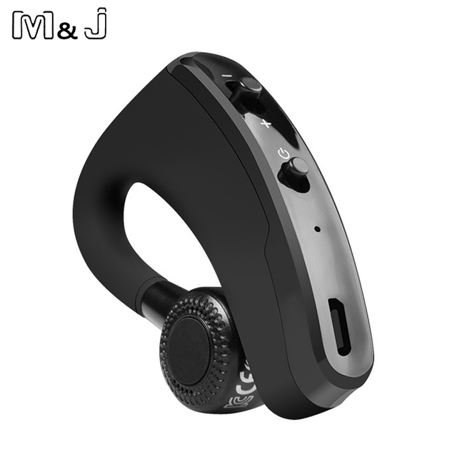 M&J V9 Handsfree Business Bluetooth Headphone With Mic