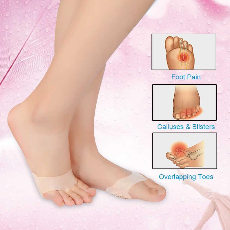 Palmilhas almofadas para as mulheres sapatos de salto alto pé blister cuidados toes inserção almofada gel de silicone palmilha alívio da dor dropshipping