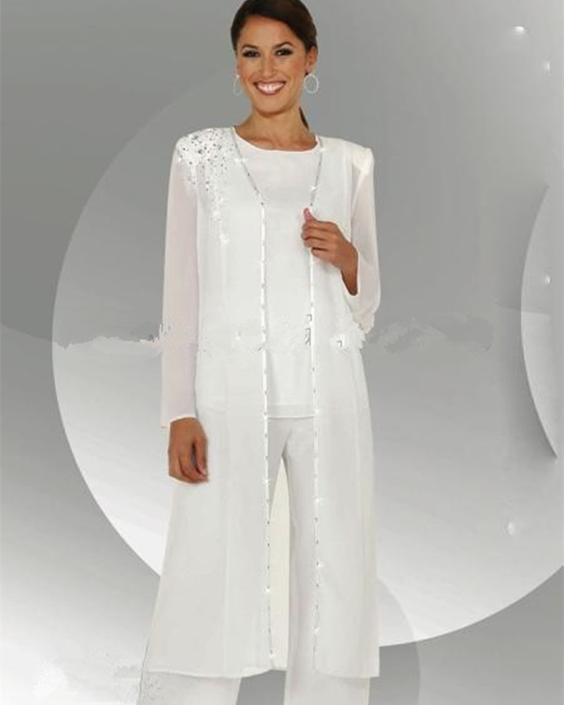 Customize Mother Of The Bride Dresses Chiffon Pants Suit Wedding