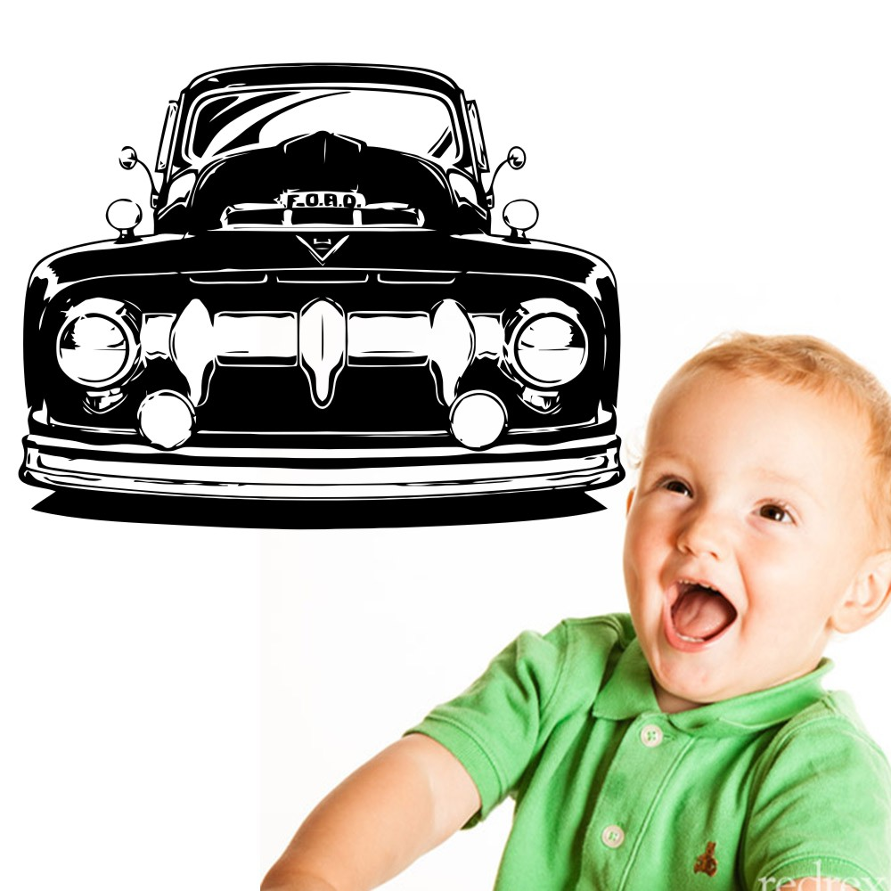 Removable Ford Truck Clic Car 58x75cm Vinyl Wall Sticker Decal Art Hot Rod Home Decor Bedroom Mural A 108 In Stickers From