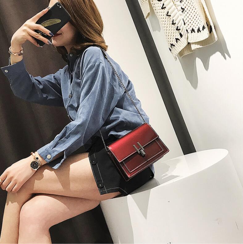 Seule 2 Épaule Body La Mini Verni Miroir as 3 Femme Cross Mode Photo Femelle Nouveau En Petit De Cuir Carré Coréenne As as Sac 1 ZqOyxSw7