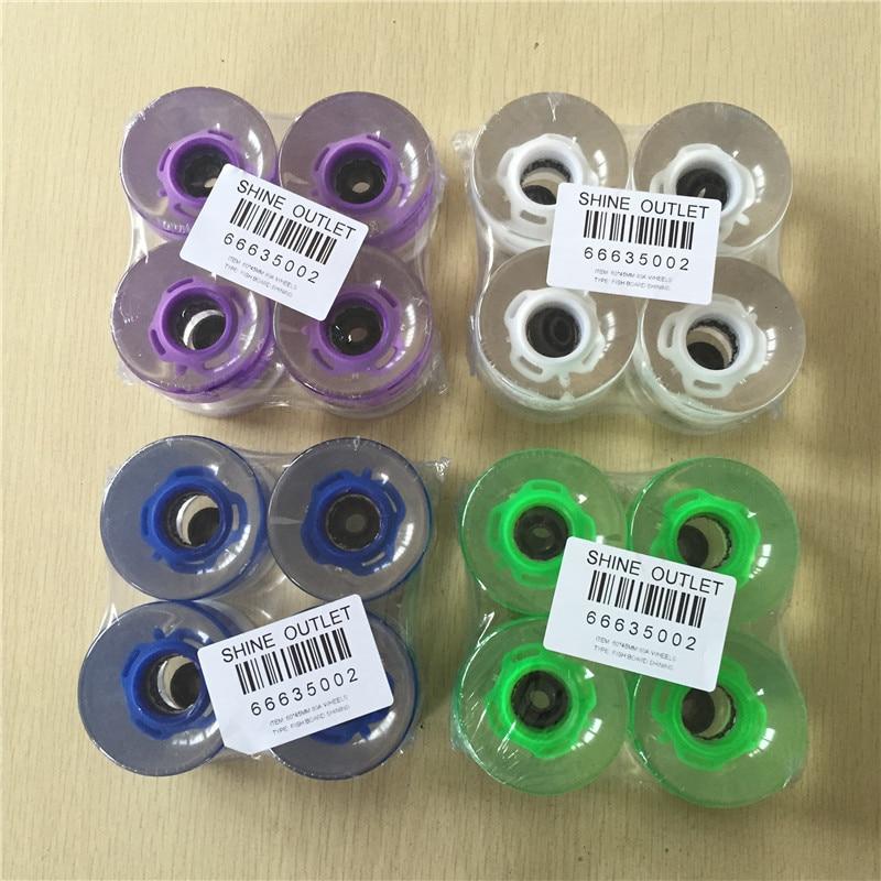 4 Teile / satz 60X45mm 80A Räder für Skateboard Longboard LED mit Magnetkern Flashing Cruiser Board Räder