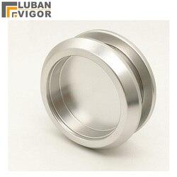 Okrągły uchwyt ze szkła ze stopu aluminium  wycięty 45mm  drzwi do łazienki  łatwy w montażu  niewidoczny uchwyt drzwi przesuwnych  sprzęt