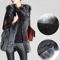 New Winter Luxury Elegant Faux  Fur Coat /Vest Women Warm Large Jacket Shawl Thick Imitated Fox Fur Thicken Female Pashmin