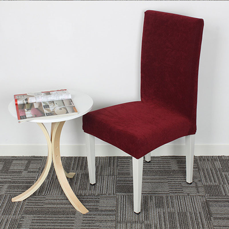 Burgundy High Quality Cross Back Chair Covers Kitchen Seat