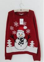 New Arriving Ugly Christmas Sweaters Lovely Snowman Wearing Special Scarf And Gloves Christmas Tree Snowflake Patterned