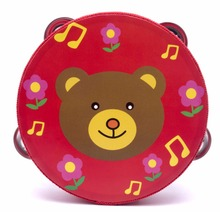 Children Baby 6 inch hand drum toy tambourine Children's percussion dance props Early Childhood Education
