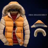 Winter Wadded Jacket Male Thickening Thermal Male With A Hood Cotton Padded Jacket Cotton Padded Jacket