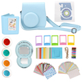 9 in 1 Instant Film Camera Album Bundles Kit Camera Case bag with Camera Decor Sticker Book Album for Fujifilm Instax Mini 8