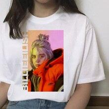 billie eilish t shirt harajuku women clothes2019 femme tshirt shirts Casual t-shirt top