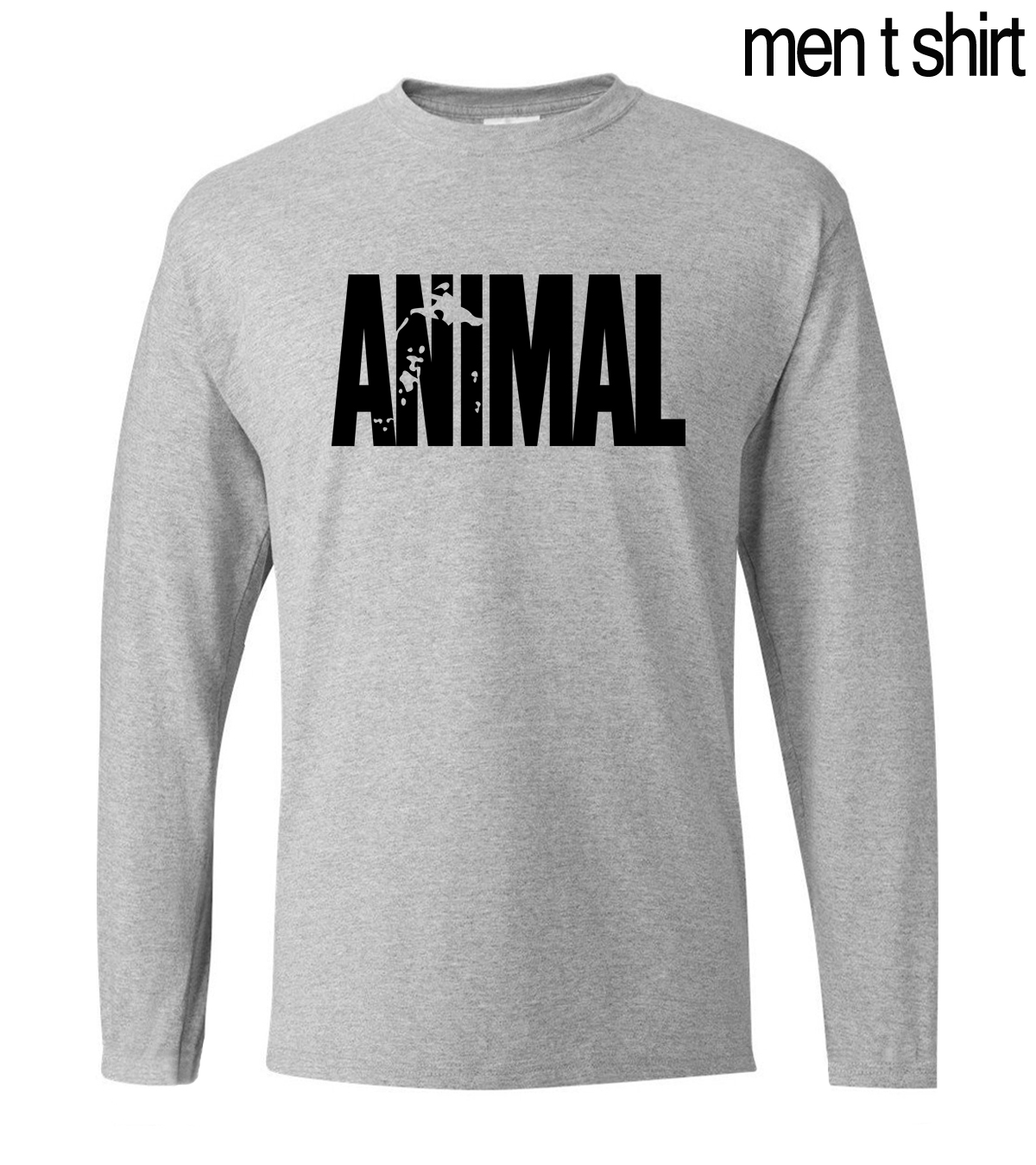 Animal T Shirts Men 2019 Spring Summer Casual Loose Fit Crossfit Men T-shirt Gyms Musclefitting Male Long Sleeve O-neck Shirt