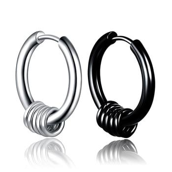 Hiphop Black Stainless Steel Hoop Earrings Men Kpop Small Circle Round Earrings Homme Loop Jewelry.jpg 350x350 - Hiphop Black Stainless Steel Hoop Earrings Men Kpop Small Circle Round Earrings Homme Loop Jewelry