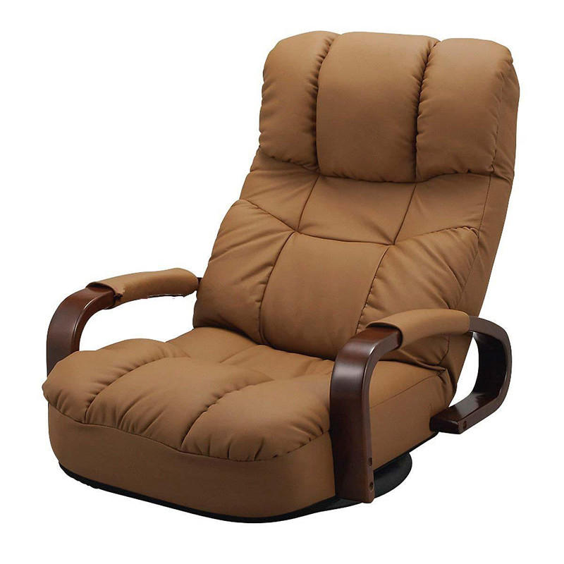 Floor reclining swivel chair 360 degree rotation japanese for Modern design lounge chairs