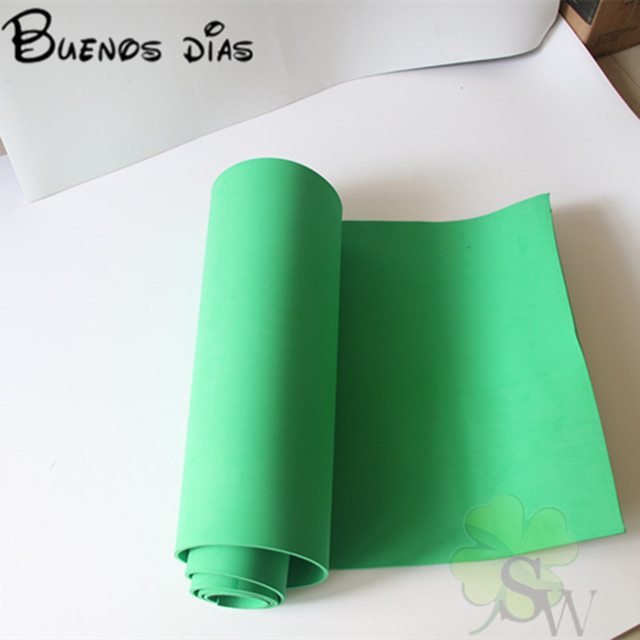 4mm Thickness No Hole Green Color Eva Foam Sheet Cosplay Children School Handmade Material Size 50cm 200cm