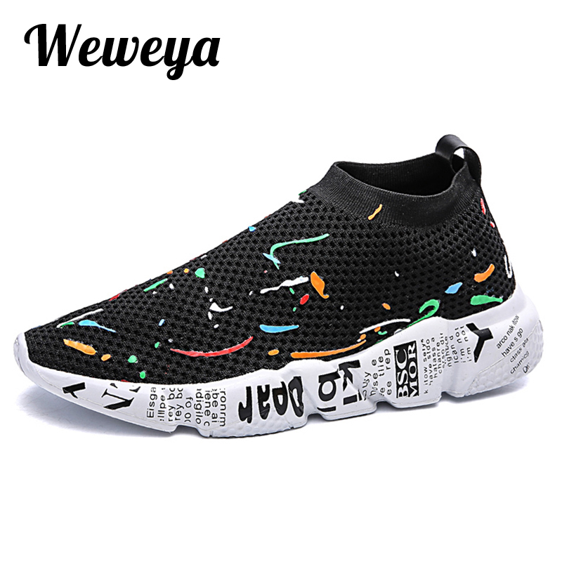 6907c4ec28c37d Weweya Fashion Sock Sneakers Men Tenis Men Shoes Casual Mesh Luxury  Breathable Footwear Male Shoes Human Mixed Colors Krasovki-in Men s Casual  Shoes from ...