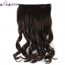 S-noilite 61CM 24 inches Cosplay Curly Long Women One Piece Clip in Full Head Hair Extensions 5 Clips on Synthetic Hairpiece(China)