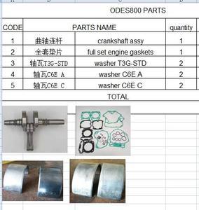 Прокладки двигателя crankshanft/полный комплект/шайбы для 800 can am Outlander brp или ODES 800 QUAD/Odes 800 ATV UTV