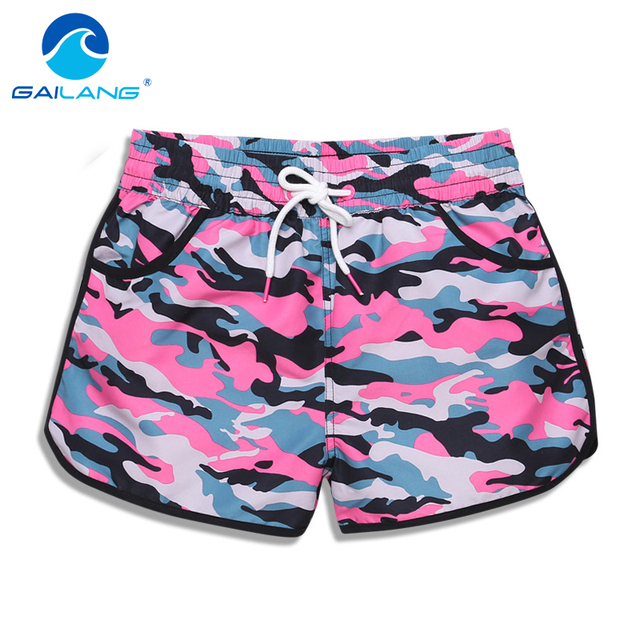 Gailang Brand Women Shorts Boardshorts Swimwear Swimsuit Woman new Boxer Trunks Bermuda Quick Drying Board Shorts Gay