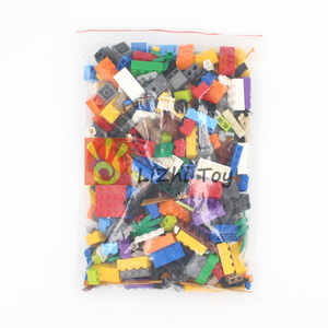 Image 4 - Ważenie zestaw klocków posiłek DIY kreatywny luzem cegły zabawki dla dzieci klocki edukacyjne dla dzieci prezent na boże narodzenie losowo 500g