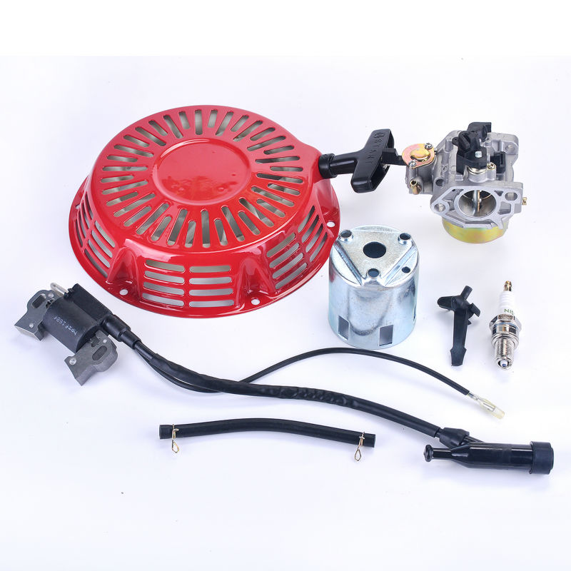 Ignition Coil+Spark Plug+Carburetor Carb+Recoil Starter Fit Honda GX340 8HP GX 390 13HP Lawn Mower Generator Engine