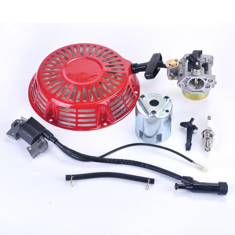 Zündspule + Zündkerze + Vergaser Carb + Seilzugstarter Fit Honda GX340 8HP GX 390 13HP Rasenmäher Generator Motor