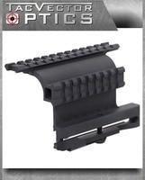 Vector Optics Tactical AK 47 & 74 Double Picatinny Rail Scope Side QD Mount Quick Release Detachable fit AK47 SAIGA