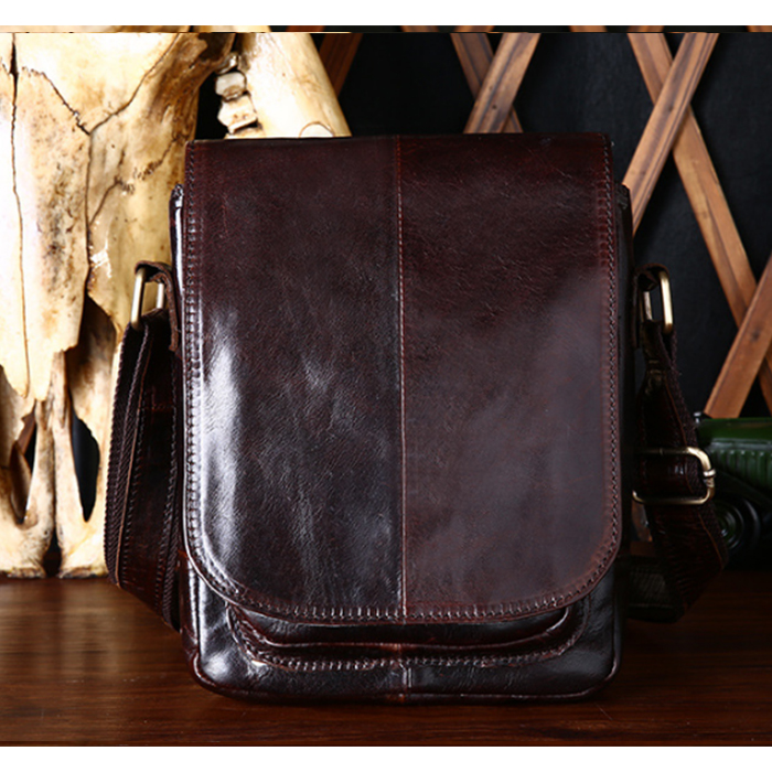 Genuine Leather Brand shoulder bags Designer men Crossbody Bag natural Cowhide Shoulder Bags Vintage Small square Bag Handbag