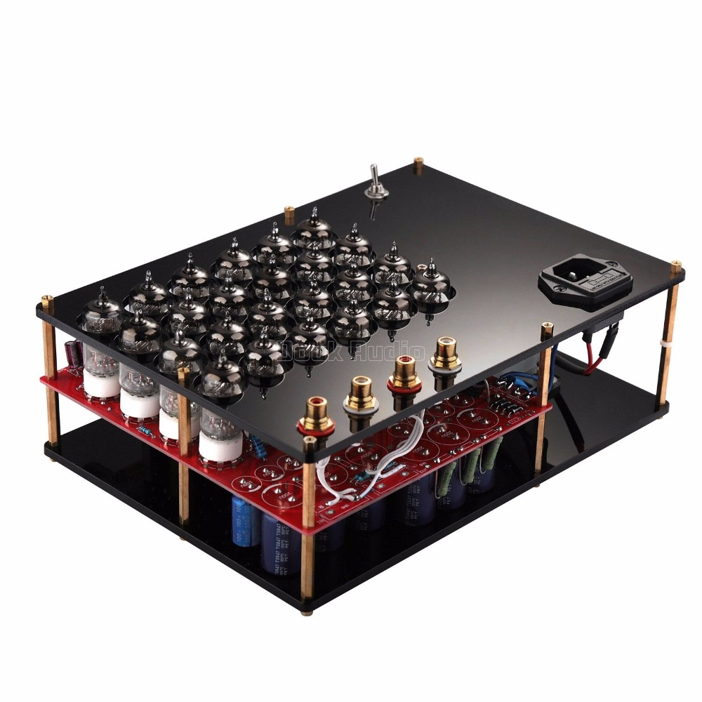 2018 Latest Nobsound 24PCS 6J1 Vacuum Tube Amplifier Stereo Class A Hi-Fi Preamp Pure Tube Headphone Amp 2018 latest nobsound hi end transistor pre amplifiers stereo hi fi preamp reference level