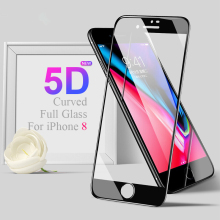 5D Full Glass Curved Edge Screen Protector For iPhone 7 8 Tempered On The Apple X Cover 9H 3D