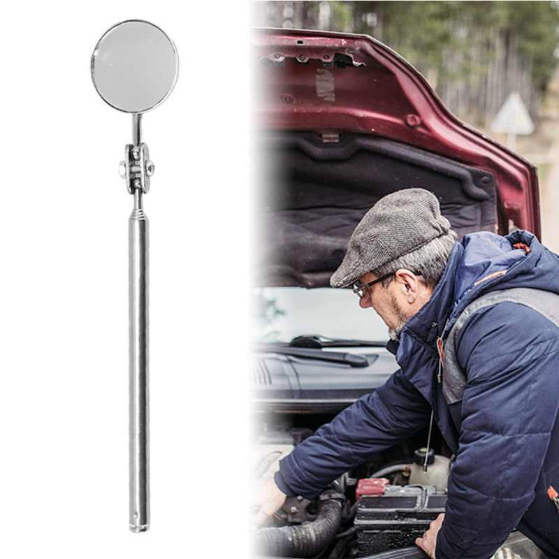 Espelho redondo Estendendo Car Ângulo Pen Telescópica Automotivo Detecção Inspeção Lente Mão Ferramenta Freeshipping