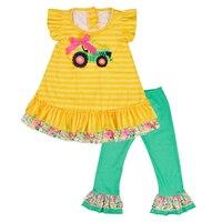 CONICE NINI/Новое поступление; Одежда для девочек; сезон весна-лето; Топ без рукавов; полосатые брюки; Изысканная детская одежда с рюшами для мале...