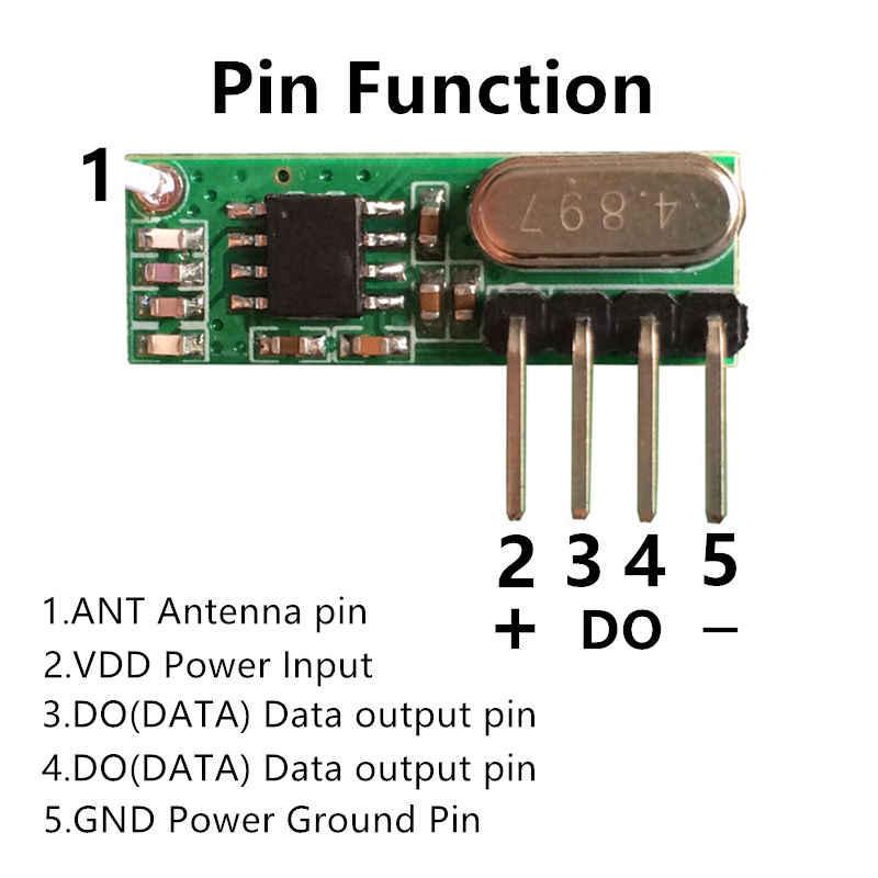 Transmisor rf de 315 mhz y receptor superheterodine UHF ASK Kit de módulo de control remoto tamaño pequeño baja potencia para Arduino/ brazo/MCU