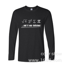 2017 Hot High Quality Cotton Be Rational Get Real Geek Pi Nerd Funny Math Printed funny long sleeve t shirt