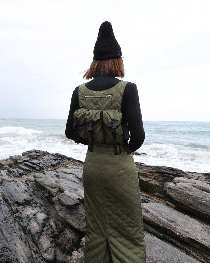 Manches Tops Green Veste Black 2018 Vert Femmes Femme Getsring Match Courte Mince Tous Sans Irrégulière army Manteau Coton Noir Gilet Les wISORq